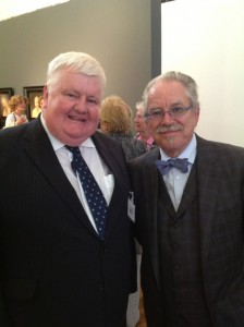 Robert Ballagh and the Chairman of the Crawford Gallery John Bowen at the opening of 'Seven' in Cork