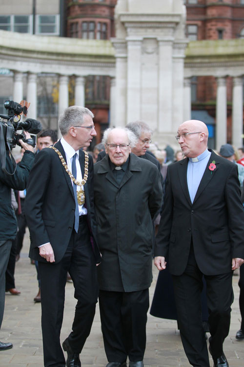 After the two-minute silence at the Cenotaph with my chaplains Fr Des Wilson and Rev Bill Shaw