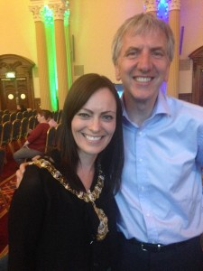 Lord Mayor Nichola Mallon at Belfast Pride awards
