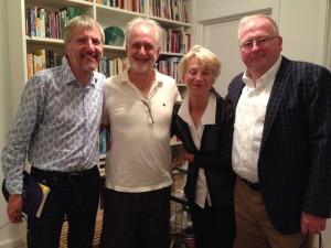With Michael Sorkin, author of Twenty Minutes in Manhattan, his wife the film theorist Joan Copjec, and restaurateur Francis Schott