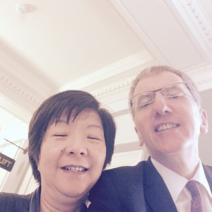 Anyone who wears a leather jacket to parliament is cool by me. First selfie with the ambassador for diversity Anna Lo