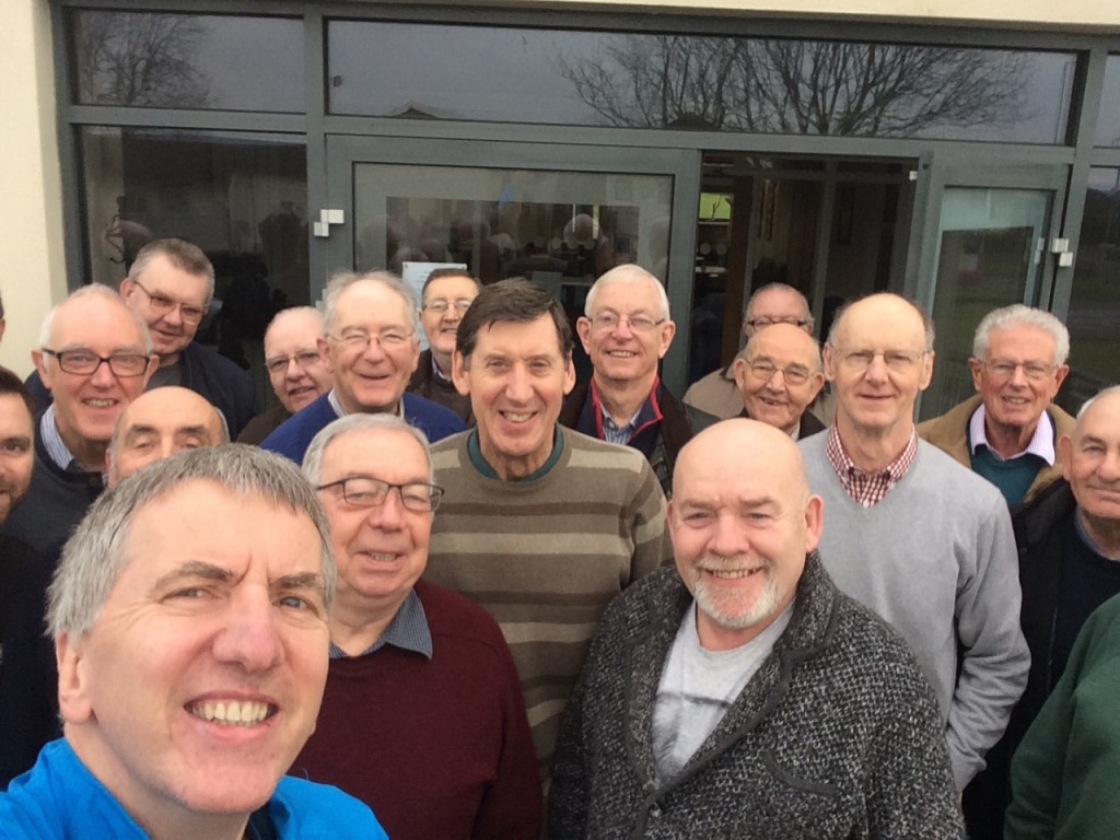 Selfie with Men's Breakfast group at the Church of the Good Shepherd in Monkstown