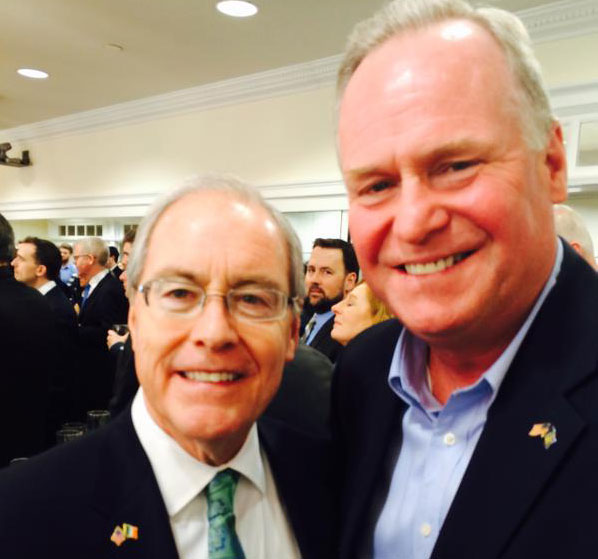 Rep Mike Cusick of Long Island, New York, with the US Ambassador to Ireland Kevin O'Malley is on Twitter.