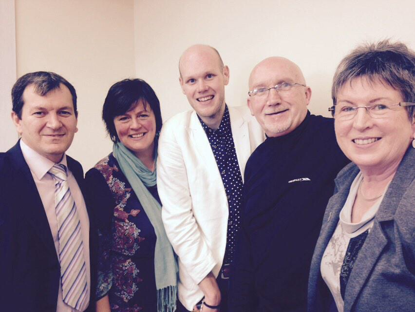 Ugur from Islamic Community, Joan from City Church, Jonathan from Fitzroy Church, Rev Bill & Margaret from Embrace NI