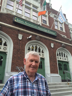Tom Looney is rightly proud of the impressive Irish American Heritage Centre of Chicago