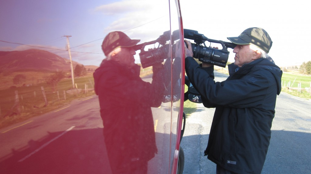 LAOCH AR LÁR: The famed Haskell Wexler filming in Donegal. Picture by Kevin McKiernan.
