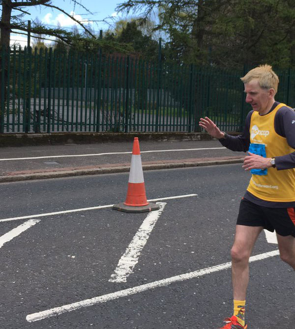 It wasn't only in elections I was running this week. I also completed the 35th Belfast marathon on Monday to raise funds for Mencap, a life-transforming charity which works to ensure those with a learning disability are fully respected. With your generous support, we hit — and suprassed — our £2,000 target. This is me at the 25 mile mark..suffering.