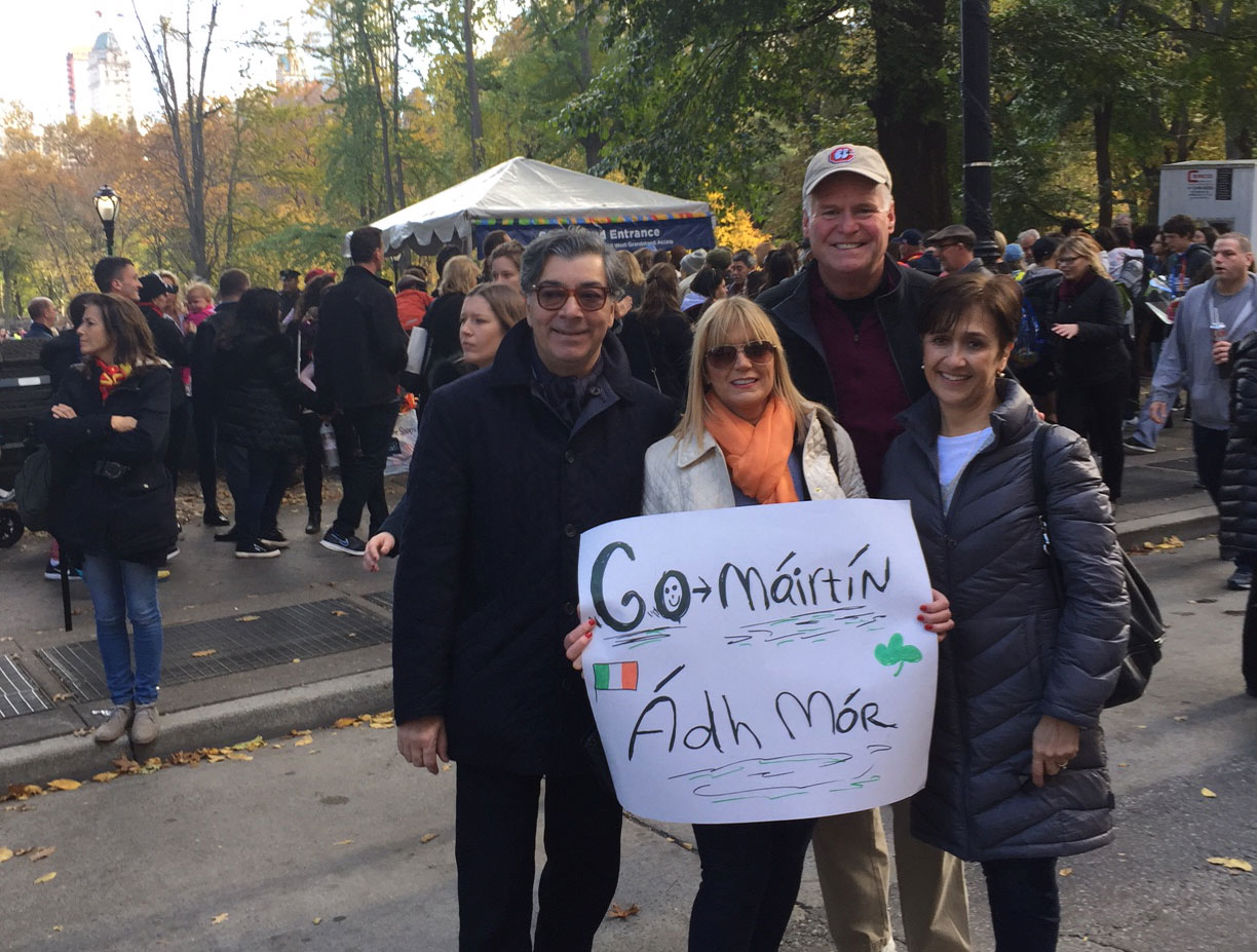 Cheerleaders: Suzanne and Joe Aquino and Assemblyman Mike and Lorena Fitzpatrick in Central Park to cheer me on final furlong