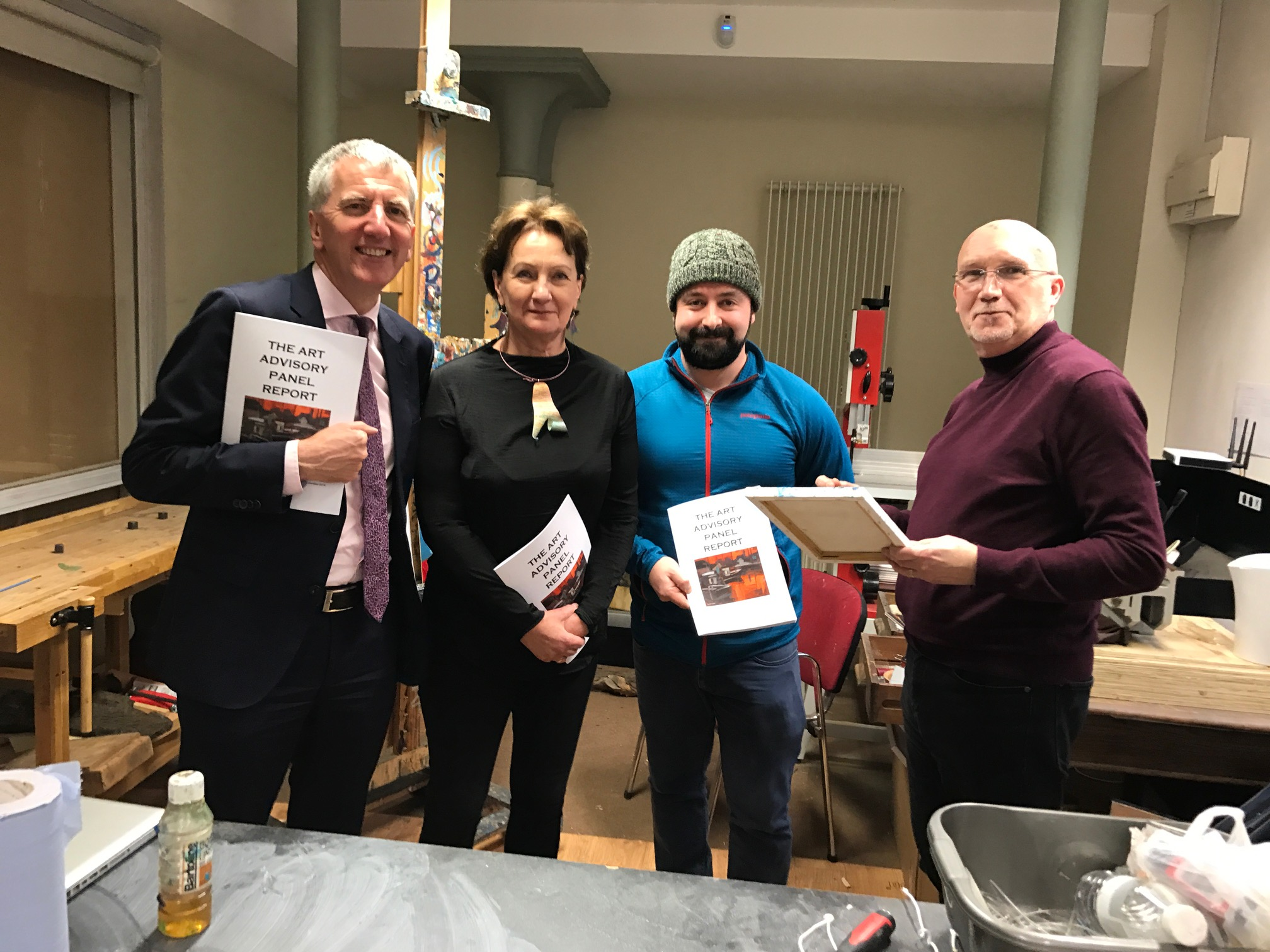 I was thrilled to join Arts Council CEO Roisín McDonough, artist and musician Barry Kerr and the Rev Bill Shaw in the Duncairn Arts Centre (another peace process hero) to deliver on my pledge to open the government arts collection to the public. I have now put aside £40,000 per annum for the next three years to buy new artworks by local artists for the collection and an additional £40,000 to buy works to fill the void left by the decision to cease purchasing artworks from 2004 until I came into the Finance Minister's post.