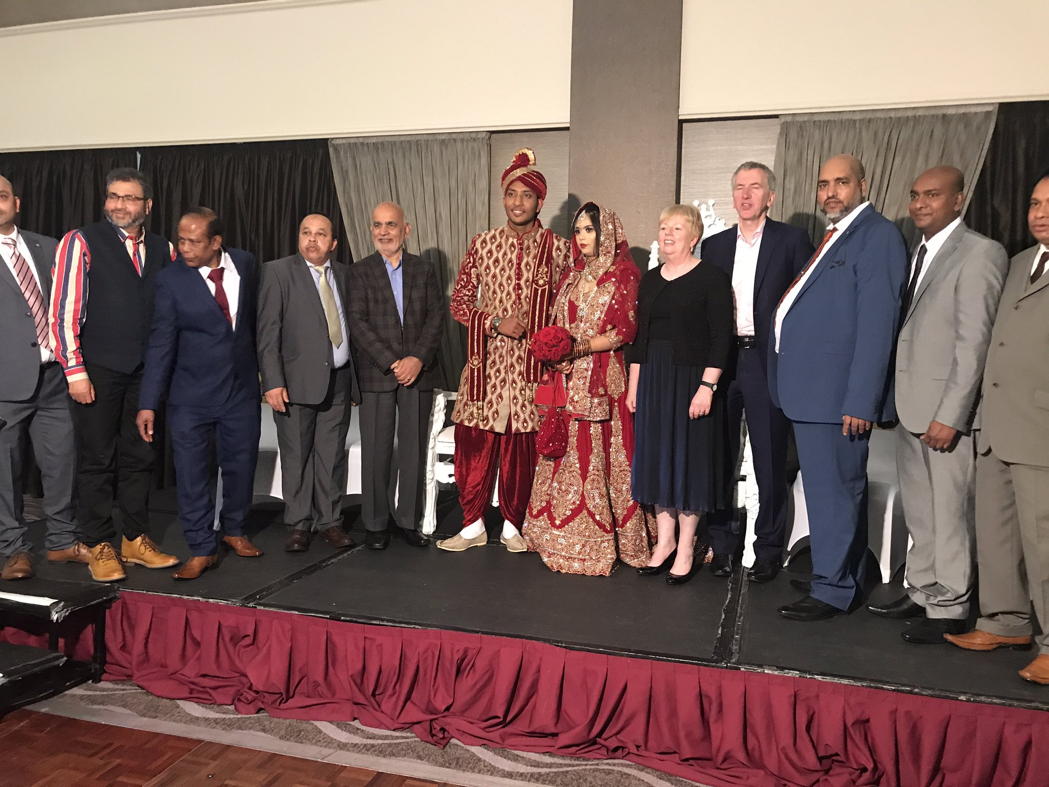 A treat & a privilege today to attend the first Bangladeshi wedding in Belfast. Congrats Nazrul Alam Raju & Tasnim Ali Go Maire Sibh Bhur Nuacht