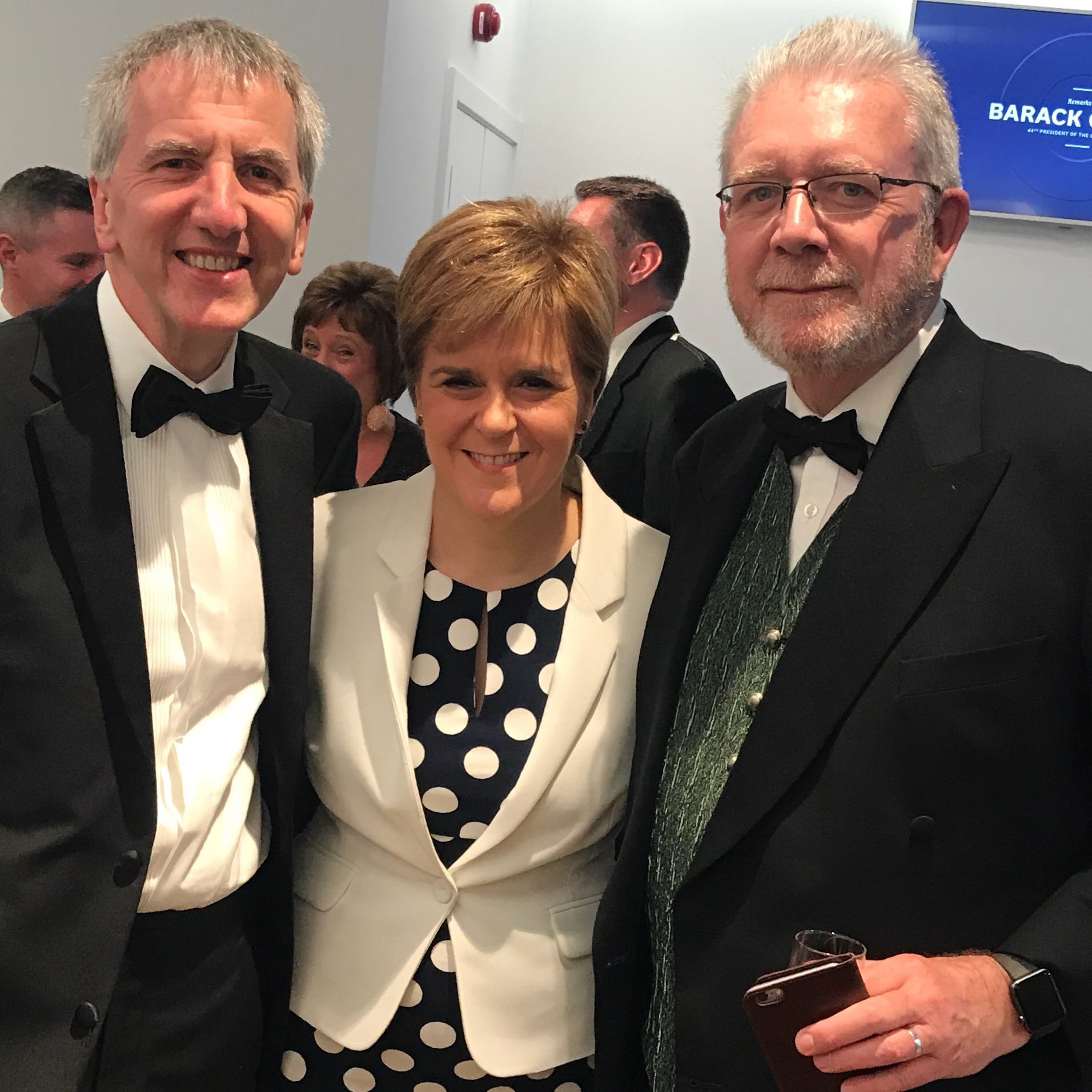 With First Minister of Scotland Nicola Sturgeon and Mike Russell MSP