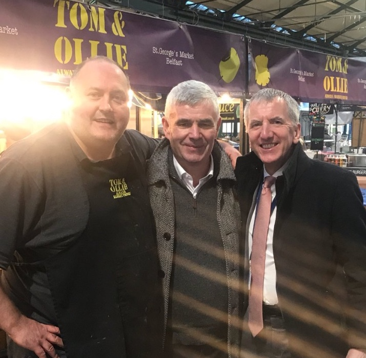 Wee Buck: Cormac from Tom and Ollie's gifted our Conamara visitor a generous slice of Ulster's finest Wee Buck cheese to smuggle over the border on his way back to Connacht