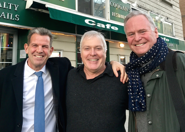 Rob Walsh, Peter Walsh and Assemblyman Mike Fitzpatrick celebrate a new lease of life for Coogan's of Washington Heights