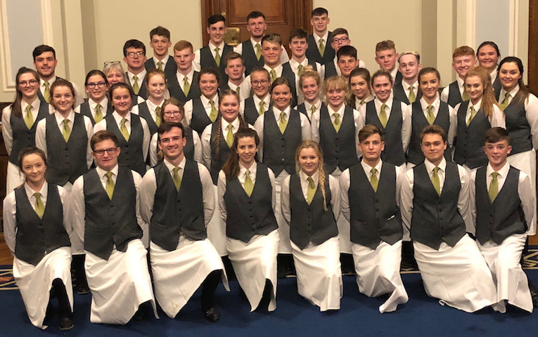 SERVICE WITH A SMILE: This veritable brigade of waiters and waitresses from Jane's Kitchen who catered the Lord Mayor's installation dinner in City Hall with professionalism and verve are quite the advertisement for our young people.