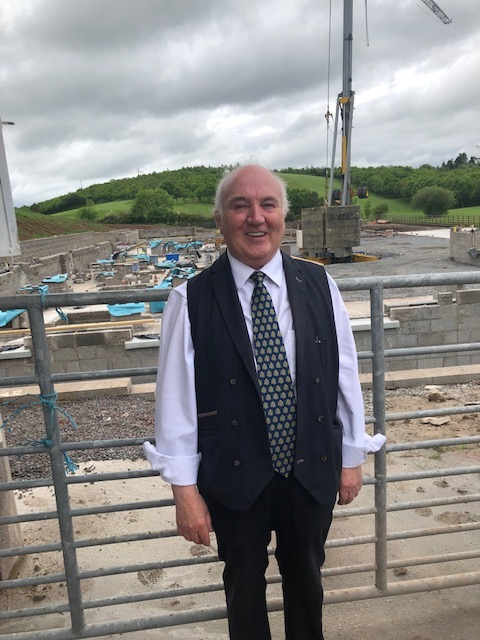 Friday 31 May — when I took this snap of Terry Cross at the site of his new Co Down whiskey distillery and visitor centre — was an auspicious day for Hinch because the first bottles of Ireland's newest uisce beatha rolled off a production line in a Cork distillery on that day.
