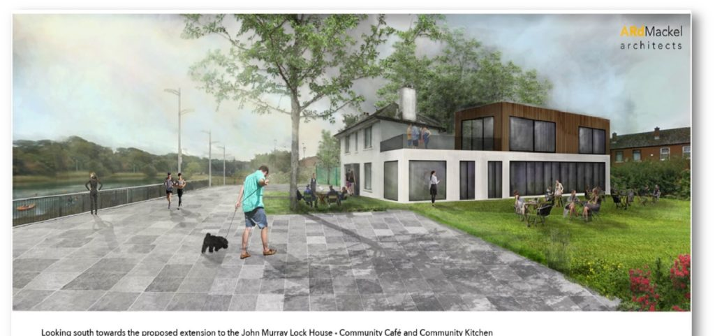 Tús Úr: Most people who pass the Murray Lock House see a lonely dwelling. However, ArdMackel architects with this illustration show the potential for real community regeneration on the Lagan towpath at the Lower Ormeau.